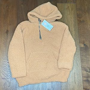 Brown Sherpa fuzzy pullover